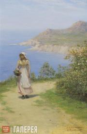 Pokhitonov Ivan. Road by the Sea. 1880s