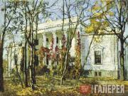 Жуковский Станислав. Княжеский дом осенью. 1909