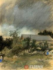 Pasternak Leonid. Gloomy Day in Karzinkino. 1918