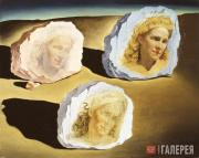 Dali Salvador. Triple Apparition of Gala's Face. 1945