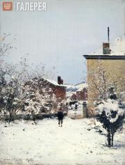 Pokhitonov Ivan. Trou-Louette. Winter. View from the Artist's Apartment. 1895