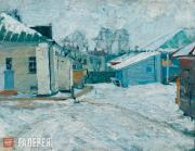 Isupov Alexei. A Yard in the Province. 1910