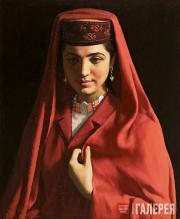 Jin Shangyi. A Tajik Girl. 1984