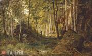 Shishkin Ivan. Landscape with Hunter. The Island of Valaam. 1867