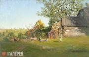 Pokhitonov Ivan. At the Edge of a Village. Early Autumn. 1900s