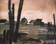 Deineka Alexander. A Burnt Village. 1942