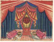 Эскиз декорации к постановке пьесы Н. Шкляра «Бум и Юла». 1923