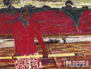 Браговский Эдуард. Cплав леса на Ветлуге. 1964