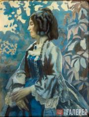Viktor BORISOV-MUSATOV. Lady in Blue. 1902