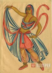 Эскиз костюма танцовщицы к постановке «Али-Нур». 1921