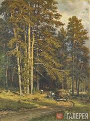 Шишкин Иван Иванович. Лесная дорога. 1871–1872