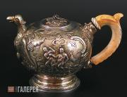 Teapot. mid-18th century, apparently 1754