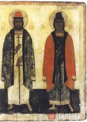 Неизвестный художник. Святые Борис и Глеб. XV в.