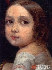 Портрет неизвестной дамы с детьми. 1840