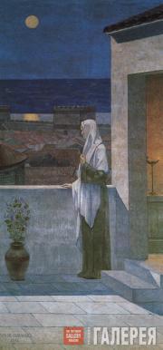 Шаванн (Пюви де Шаванн). Св. Женевьева, смотрящая на ночной Париж. 1898