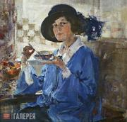 Fechin Nikolai. Portrait of Mrs. Krag. 1923