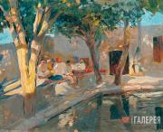 Isupov Alexei. Tea-house. By the Pond. 1920-1921