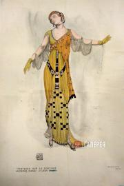 Léon BAKST. A fantasy on modern costume. Dioné. 1912
