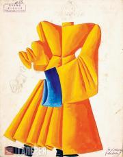 Эскиз костюма «Дьякона» к спектаклю «За двумя зайцами» по пьесе Михаила Старицко