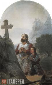 Aivazovskiy Ivan. Warrior Saint. 1890s