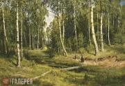 Шишкин Иван Иванович. Ручей в березовом лесу. 1883
