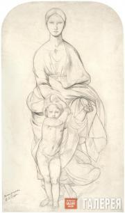 Ф.А.БРУНИ. Богоматерь с Младенцем. Начало 1840-х