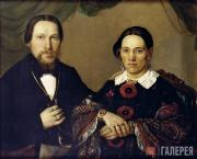 Portrait of St. Petersburg Industrialist Andrei Yegorovich Lenivov with His Wife