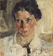 Fechin Nikolai. Portrait of Natalia Krotova. 1923