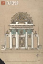 Layout for the central iconostasis for the Trinity Cathedral in Sumy. Version wi