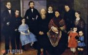 Unknown artist. Portrait of a Merchant Family. Late 1830s-1840s