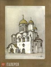 Shchusev Alexei. Draft design of the Church of St. Alexius in Tsarskoye Selo. Pe