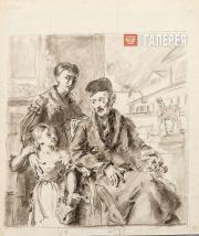Portrait of Dmitry Voieikov with His Daughter Varvara Voieikova and English Gove