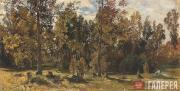 Ivan Shishkin Study of Woodland Glade in Summer. 1870