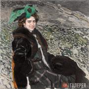 Golovin Alexander. Portrait of Ballerina Yelena Smirnova. 1910