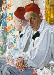 Golovin Alexander. Portrait of Vsevolod Meyerhold. 1917