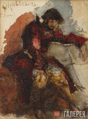 Врубель Михаил. «Кирибеевич». Конец 1880-х