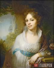 Vladimir  Borovikovsky. Portrait of Maria Ivanovna Lopukhina. 1797