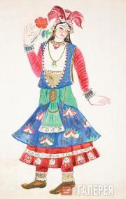 Н.С.Гончарова. Индийская танцовщица. 1914