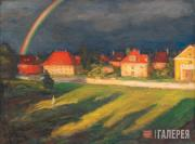 Pasternak Leonid. Landscape with Rainbow. 1928