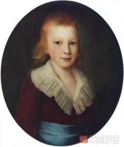 Pyotr DROZHDIN. Portrait of a Boy. 1780s