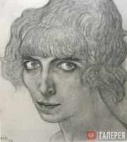 Léon BAKST. Portrait of Luisa Casati. 1912