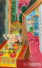 Matisse Henri. Interior, Flowers and Parakeets. 1924