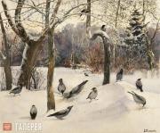 Polenova Yelena. Landscape with Crows. 1880s