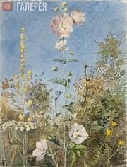Polenova Yelena. Flowers (Wild Mallow). 1881