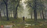 Shishkin Ivan. Rain in an Oak Forest. 1891