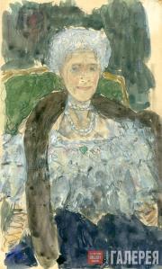 Golovin Alexander. Portrait of Gurly Telyakovskaya. 1910s
