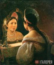 Karl BRIULLOV. Svetlana (A Russian Girl Telling Her Fortune) 1836