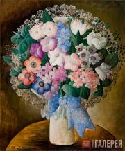 Sacharoff Olga. Bouquet with a Blue Bow. About 1929