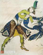 Л.С.Бакст. Эскиз костюма для Л. Казати «Индо-персидский танец». 1912