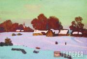 Nikolai KRYMOV. Winter Evening. 1919